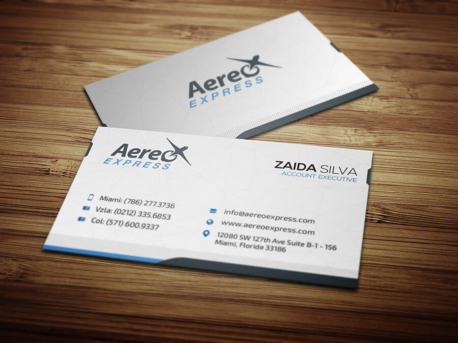 Aereo Express Business Cards